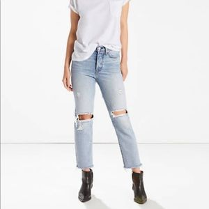 """Levi's wedgie fit """"lost inside"""" cropped jeans"""